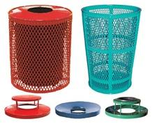 EXPANDED METAL RECEPTACLES & LIDS